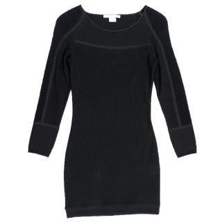 Antonio Berardi Black Ribbed Dress