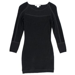 Antonio Berardi Black Ribbed Dress