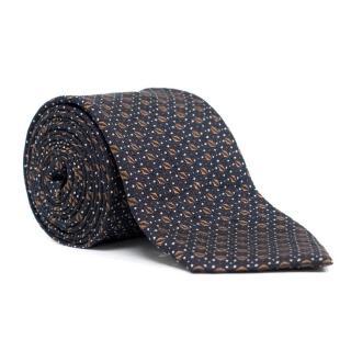 Acne Studios Navy Pattern Tie