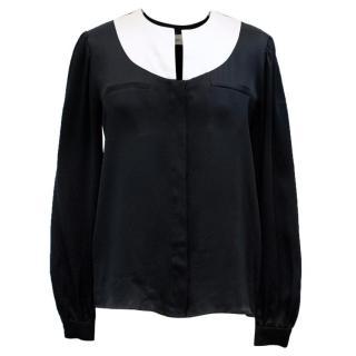 Valentino Boutique Black Silk Blouse