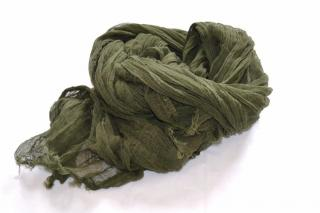 Bottega Veneta khaki cotton scarf