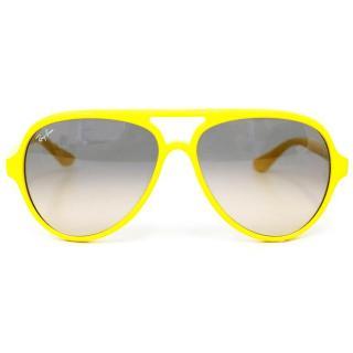Ray Ban Yellow Plastic Aviator Sunglasses