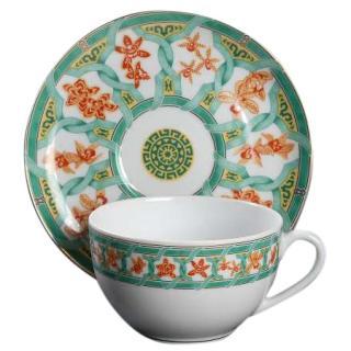 Cristofle Green Ginkgo tea set