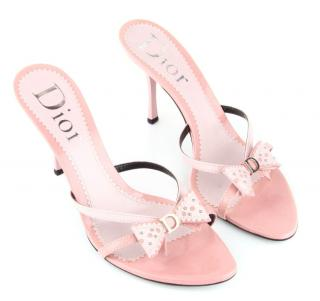 Dior sandals in Baby Pink Patent Leather