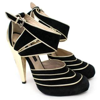 Chrissie Morris Black & Gold Heel