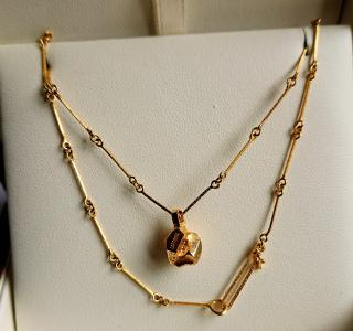 Lapponia 14ct Gold Nugget Necklace RRP �1450