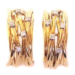 Diamond Weave Earrings 9ct Gold
