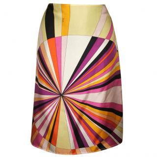 Emillio PUCCI silk skirt, size 40 IMMACULATE