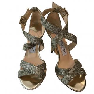 Jimmy Choo Lottie Glitter Sandals.