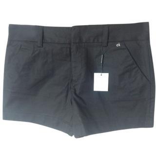 Calvin Klein black cotton shorts