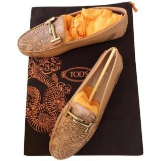 TOD�S DOUBLE T TATTOO-INSPIRED GOMMINO MOCCASIN RPP� 360