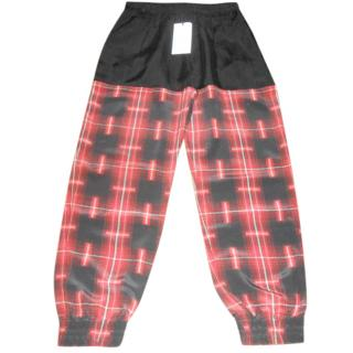 Lulu Co silk plaid joggers