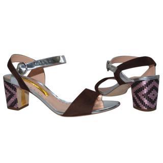 Rupert Sanderson Pythia Coco Suede sandals