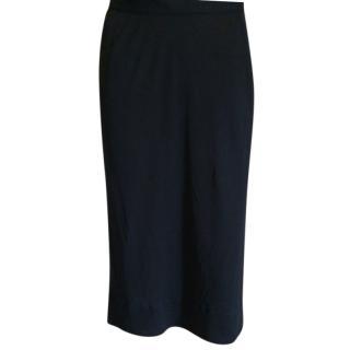 Prada black silky skirt