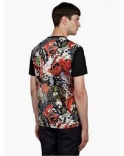 Jonathan Saunders Floral Paisley Panel T Shirt