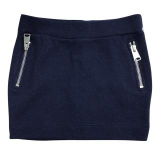 Zoe Karssen navy blue  zip mini