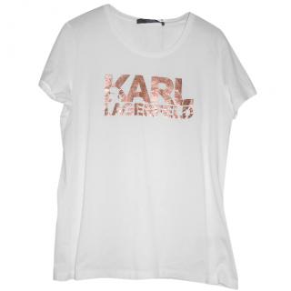 Karl lagerfeld white tee shirt