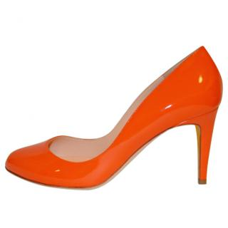 Rupert Sanderson Patsy Flame Orange leather High Heel Pumps