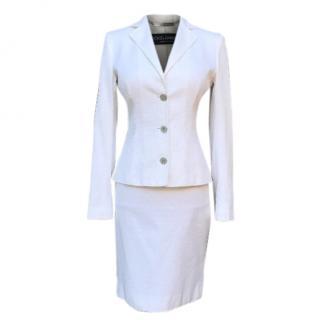 Dolce&Gabbana white tailleur