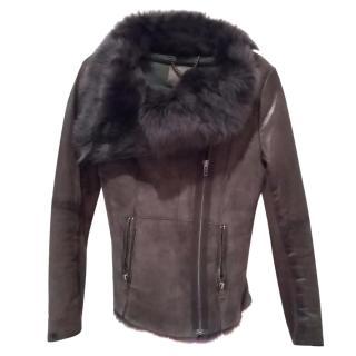 Muubaa zip up shearling jacket