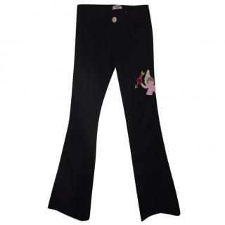 Moschino Cherub Flare Trousers
