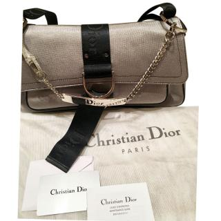 Christian Dior satin embellished bag