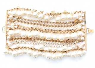 Erickson Beamon Pearl and Swarovski Crystal Bracelet