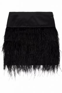 By Malene Birger Alexandrie ostrich feather-trimmed mini skirt
