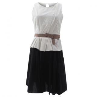 Paule Ka Belted Cotton Dress