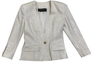 Balmain Crystal-Embellished Jacket