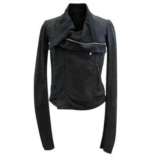 Rick Owens Blistered Leather Biker Jacket