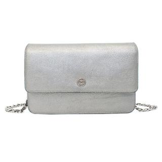 Chanel Silver Wallet on a Chain