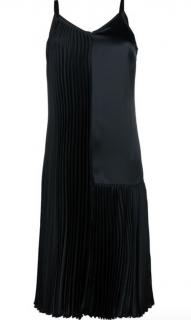 Christopher Kane asymmetric pleated slip dress