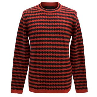 Burberry Prorsum Zig-Zag Stripe Sweater
