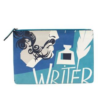 Burberry The Writer Print Leather Document Case