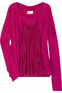 Vanessa Bruno jersey pleat-front top