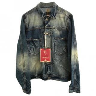 Rare PRPS Mens Denim Jacket , Japanese selvedge denim  L