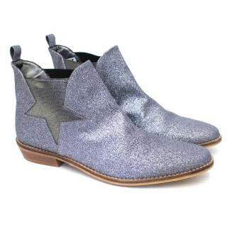 Stella McCartney Kids Silver Lily Glitter Chelsea Boots