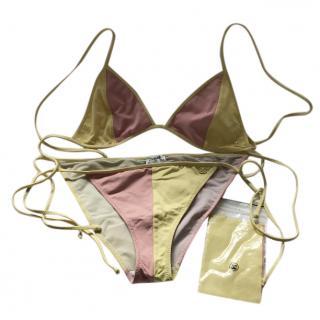 Chanel Yellow And Pink Bikini