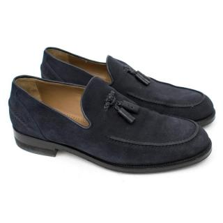 Jimmy Choo Blue Suede Loafers