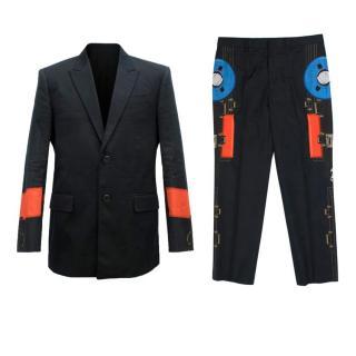 Givenchy Black Print Suit