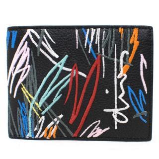 Dior Mens Black Leather Wallet
