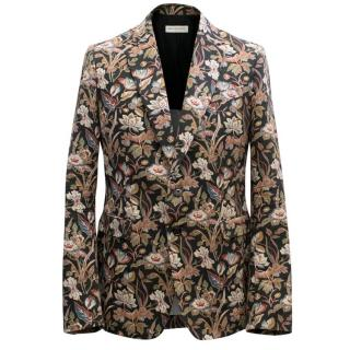 Dries Van Noten Floral Print Blazer
