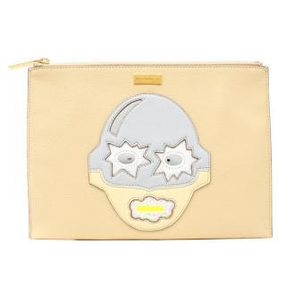 Stella McCartney Beige Superhero Clutch Bag