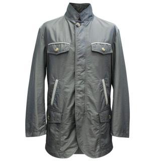 Etro Gunmetal Mens Raincoat