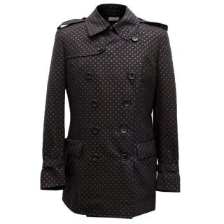 Comme des Garcons Black And Red Dotted Trench Coat