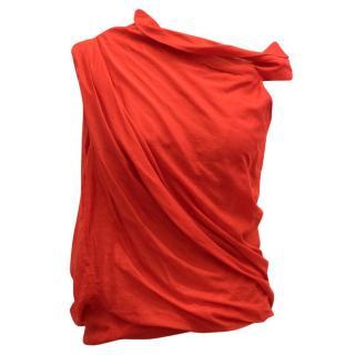 La Petite S***** Red Shoulder Detail Top
