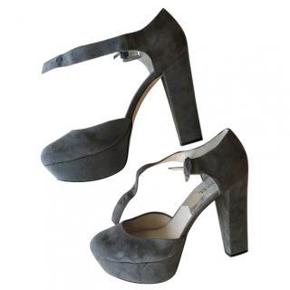 MK Michael Kors Suede high heel mary janes in grey