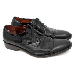 Vivienne Westwood Mens Black Toe Cap Shoes