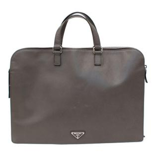 Prada Mens Grey Document Case